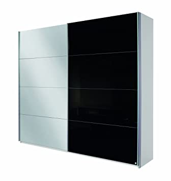 Glaspaneele Küche Rauch Schwebetürenschrank Mit Spiegel 2 Türig Glaspaneele  Schwarz