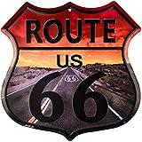 dojune-Vintage Home Decor Route 66 Highway Shield Commercio all'ingrosso metallo segno