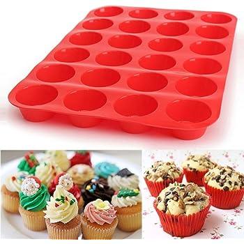 Muffinformen Cupcake Kuchenform Muffin Kuchen Backen Professionelles Design Silikon Backform Für 24 Muffins