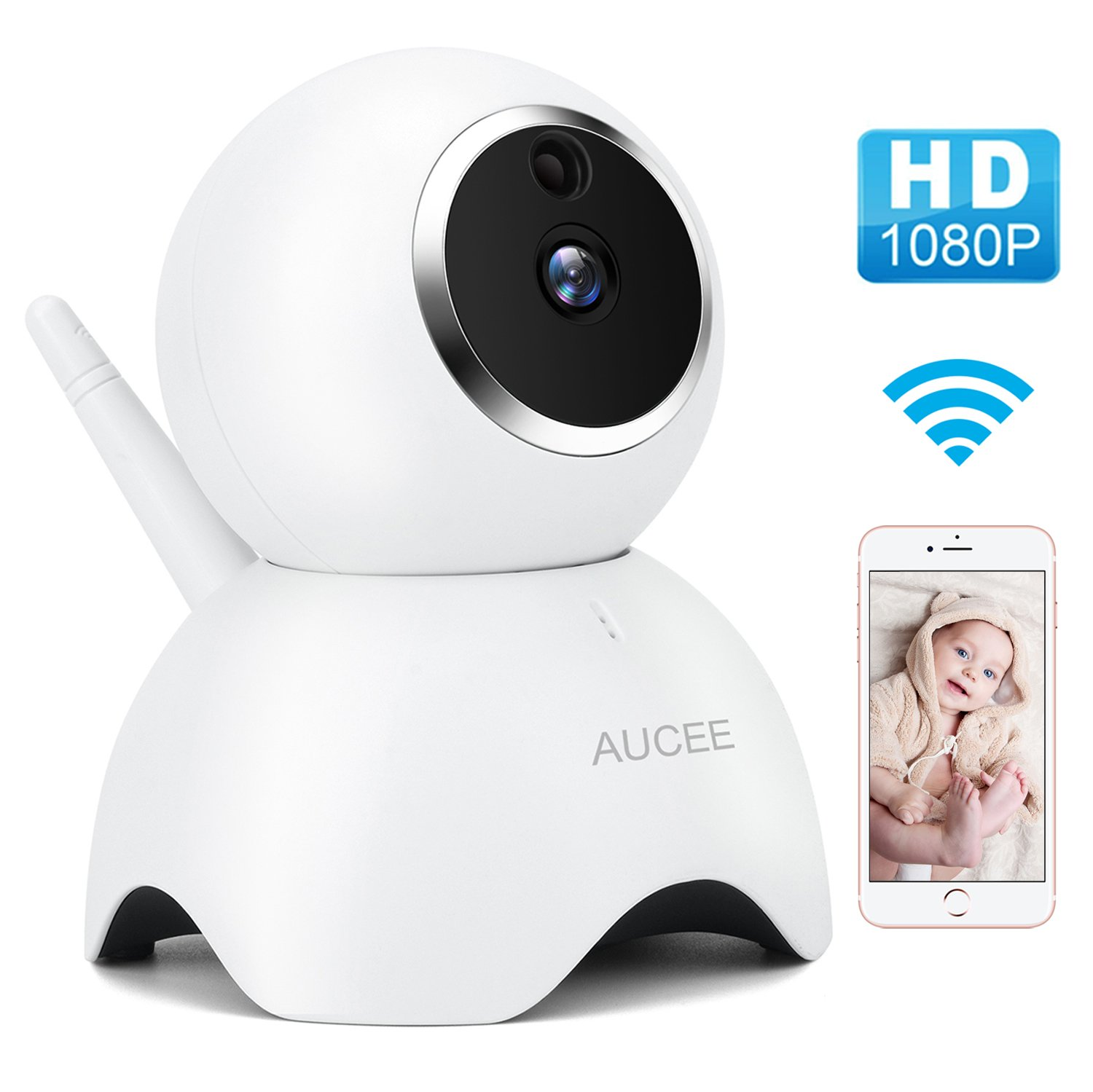 IP Camera – 720P Wireless Security Camera with Two-way Audio, Home Surveillance Camera Motion Detection Wifi Camera for…