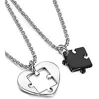 BESTEEL Gioielli Cuore Puzzle Collana in Acciaio Inossidabil per Uomo Donna Love Coppia Fidanzati Pendente Collana…