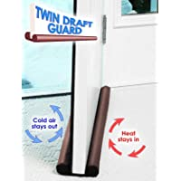HOUSE OF QUIRK Light and Stop Escaping of Cool Air Twin Door Draft Guard (Multicolour)
