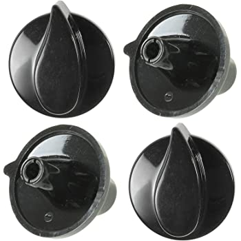 4 x Genuine BELLING Solitaire Country Chef Oven Cooker Hob Black Switch Knobs