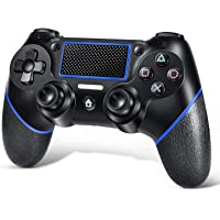 Controller PS4, Gamepad controller wireless per Playstation 4 / Pro/Slim con funzione audio, doppia vibrazione, joystick…