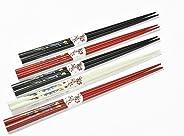 Abacus Asiatica: Tres Colores de Felicidad Set de Palillos (5 Pares de Palillos) CS-GH-S5-01 DE