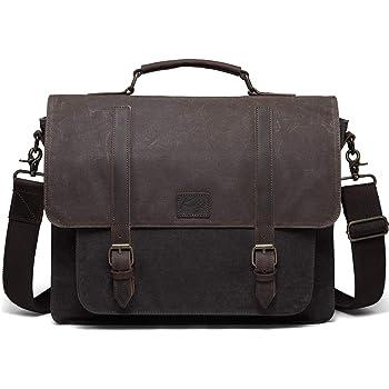 Newhey Mens Laptop Shoulder Canvas Messenger Bag Waterproof Computer ... c9ad8af87d570