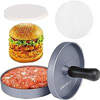 GWHOLE Pressa per Hamburger Pressa Stampa in Alluminio   100 Dischi Antiaderenti  Perfetto per BBQ