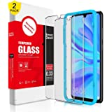 SMARTDEVIL 2 Pack Screen Protector Foils for Huawei P30 Protective Tempered Glass Film for 6.1 Inch Screen with Installation