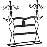 SONGMICS Présentoir à Bijoux, Porte-Bijoux, Organisateur de Bracelets, Colliers, Boucles d'Oreilles, Bague, JDS78B