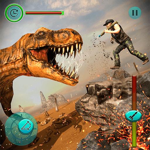 Futuristische Dinosaurier-Jäger-Dschungel-Jagd-Dinosaurier-Spiele