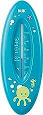NUK 10256388 Badethermometer für sicheres Baden, natürliche Messflüssigkeit aus Rapsöl, Made in Germany, 1 Stück