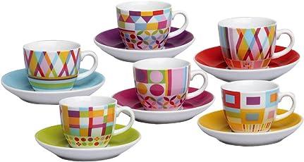 Tognana Iris Policromia Confezione 6 Tazze Caffe' Con Piattino