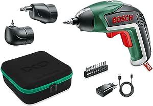 Visseuse sans fil Bosch - IXO Edition Set (Livré avec renvoi d'angle et mandrin excentré, 10 embouts de vissage, Chargeur USB, boite en mousse, Batterie intégrée 3,6 V- 1,5Ah)