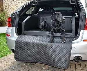 Mayaadi Home Premium Hundebett 90 X 70 Cm Hochwertiger Autositz Für Deinen Hund Autohundebett Mit Schutzdecke Kofferraum Bett Hunde Kunstleder Travel Schwarz S Haustier