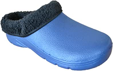Briers Womens/Ladies Footwear Gardening Clogs With Removable Fleece Lining, Navy UK: