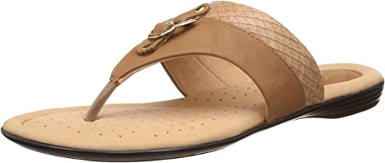 BATA Women's Crocotrimthong Leather Slippers