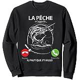 La pêche m'appelle il Faut Que j'y aille Espadon Drole Pêche Sweatshirt