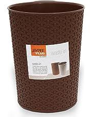 Jaypee Plus Plastic Dust Bin, 10 Liters, Brown