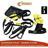 FSSSP3XG Suspension Strap Fitness Training System   Allenamento Funzionale, Plank, Esercizi in Sospensione Palestra   Trainer Band Cinghie   Yoga Gym Door Band   Bande Ancoraggio Porta