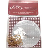 Kilner Cellophane Jam Jar Disc Covers with Bands, Pack of 100, White 0025.429