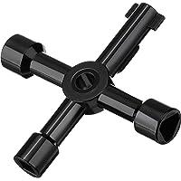 4 Wege Multifunktionale Utilities Schlüssel für Elektrische Wasser Gas Meter Box Schrank Öffnen Schlüssel (Schwarz)