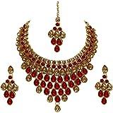 Lucky Jewellery Elegant Stone Necklace Set for Girls & Women