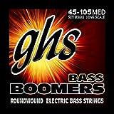 GHS Boomers - Cuerdas para bajo eléctrico (Medium, 45-105)