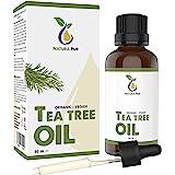 Tea Tree Olie Puur 50ml met pipet - 100% biologisch - etherische Tea Tree Oil uit Australië, veganistisch - Ideaal tegen een