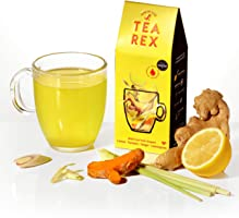 TEA REX Fresh Fruit & Root Infusions - Lemon Turmeric Ginger Lemongrass (3 Pack)