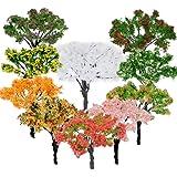 BESTZY 10 st modellträd blandade modeller träd dioramaträd tåg träd järnväg landskap för gör-det-själv landskap naturgrön (65