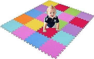 XMTMMD Tappeto Puzzle per Bambini   in Soffice Schiuma EVA   Tappetino Gioco per la Cameretta   a Quadri Multicolore AMCS3009G20