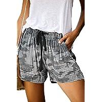 Magritta Shorts for Women Casual Drawstring Hot Pants with Pockets Elastic Waist Lounge Shorts