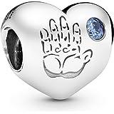 Pandora Women's 925 Sterling Silver Baby Boy Charm Bead (791281CZB)