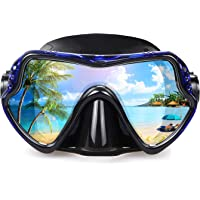 Erwachsene Tauchmaske, professionelle Schnorchelbrille, Anti-Leck Taucherbrille, 180° Pano Anti-Fog Schwimmbrille…