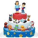 Adornos para tartas, 12 minifiguras, adornos para tartas, minifiguras, adornos para tartas, suministros para decoración de ta