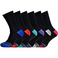 Men's Socks Cotton Rich Comfortable Classic Patterned Dress Socks Size 6-11 6 Pack