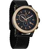 Christian Geen Analog Watch For Men - Stainless Steel, Black - 4840Glbr-Bk