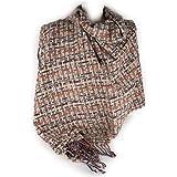 Sciarpone a maglia intrecciata donna invernale morbida sciarpa calda grande da ragazza signora coprispalle foulard scialle st