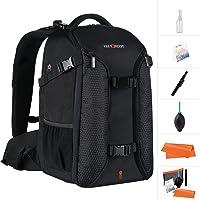 K&F Concept professioneller Fotorucksack Kamerarucksack für 2 Kameras und 15,6 Zoll Laptop mit Regenschutzhülle (inkl. 5…