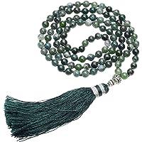 Jovivi Gioielli Pietre Naturale Collana Braccialetto Retro Tibetano Buddismo India Agata Mala Guarigione Energia Terapia…
