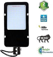 Bright Electronics Thin 72w LED Street Lights- IP65 Waterproof, White, 2 Year Warranty, Metal Body