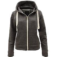MALAIKA ® Ladies Plain Colour Hoodie Womens Fleece Hooded Top Zip Zipper Hoodie Sweatshirt Available in 22 Colours Plus…