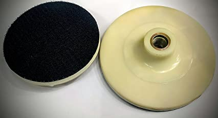 GENERIC Polishing Sanding Backup Pad for Car Polisher Angle Grinder, 125mm, 5-inch (Creme Black, BACKUP)