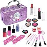 Anpro 23pcs Kit de Maquillaje Niñas,Juguetes para Chicas, Cosméticos Lavables, Regalo de Princesa para Niñas en Fiesta,Cumple