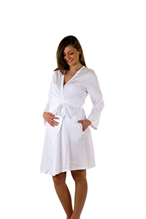 fda292956769 Premamy - Maternity Hospital Nightie Robe Labour Birth - Colour: White -  Size: M