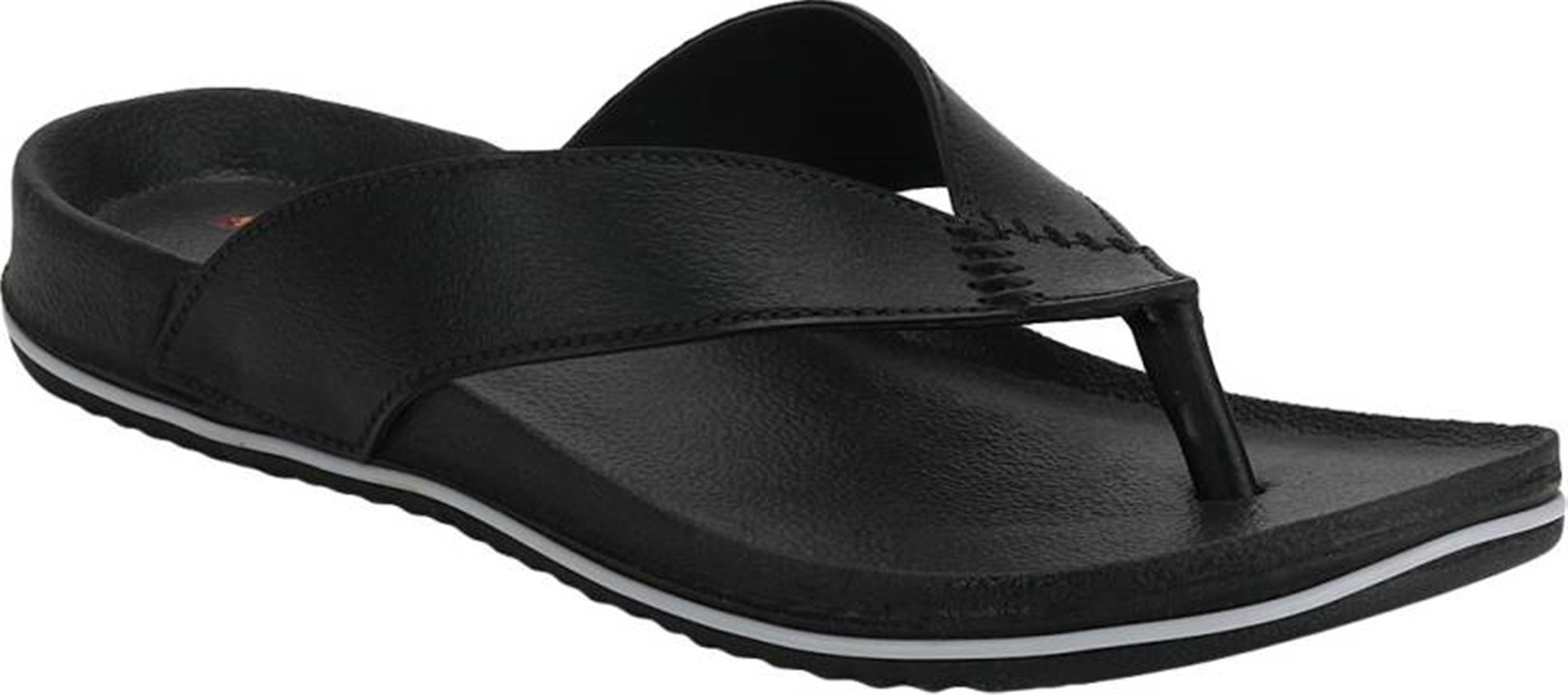 c2973b6455c6 DzVR Men's And Boy's Black Slippers And Flip Flops – Shopss