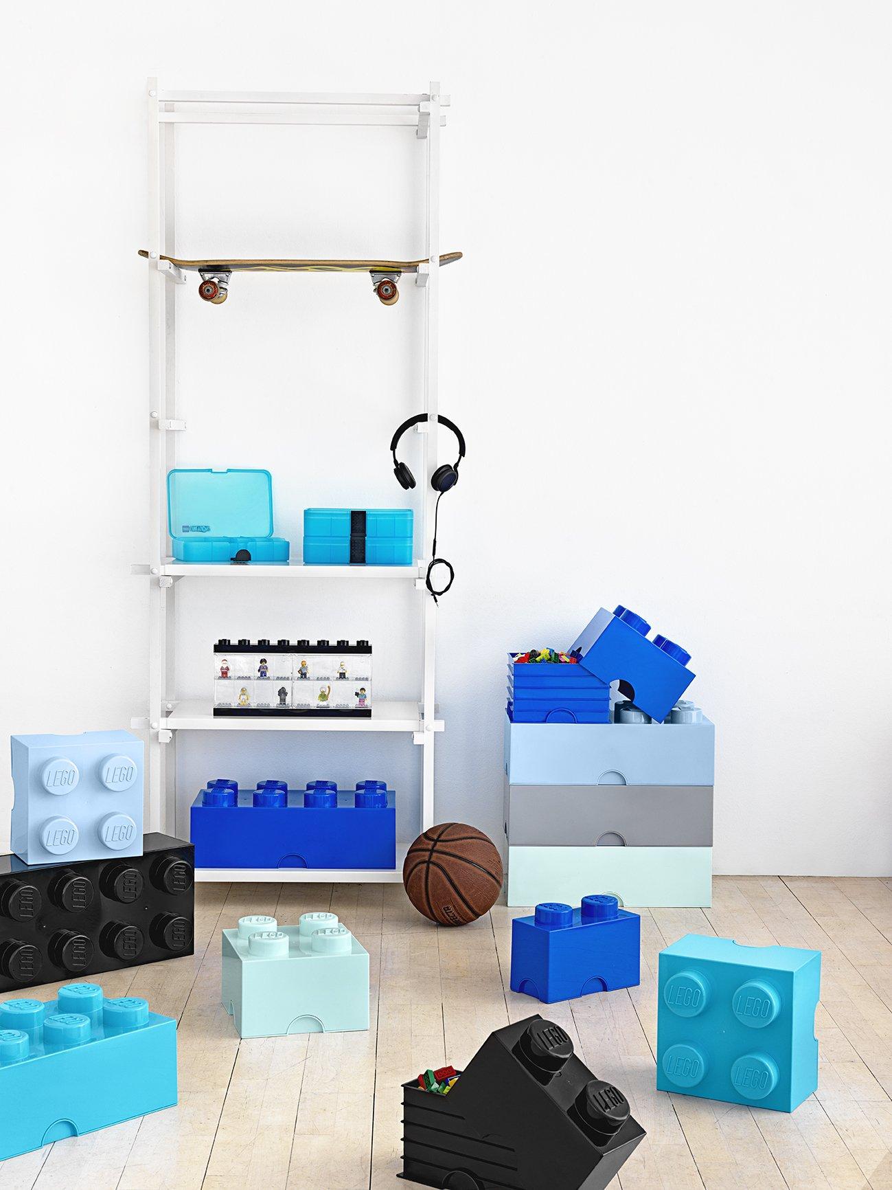 Mattoncino-contenitore Lego a 4 Bottoncini, Contenitore Impilabile, 5,7 Litri, Acqua & Lego Brick Mattoncino Bottoncini… 3 spesavip