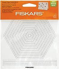 "Fiskars Paper Piercing Stencil, 6"" by 6"", Hexagons"