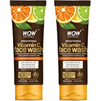 WOW Skin Science Brightening Vitamin C Face Wash - No Parabens, Sulphate, Silicones & Color - Pack of 2 - Net Vol 200mL