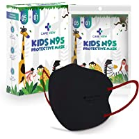 Care View Kids N95 Face Mask (Pack of 5 + 1 Free), BLACK Color,5 Layered Filtration, DRDO, BIS (ISI),CE Certified, Ear…